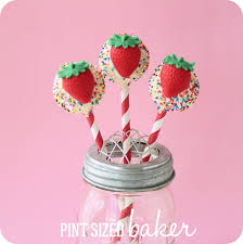 strawberry cake pops with a mold pint sized baker