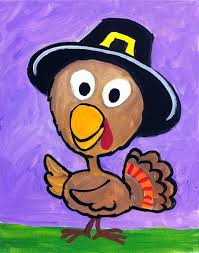 how to paint a thanksgiving turkey on canvas tracie s acrylic