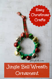 jingle bell wreath ornament easy craft activity jinxy