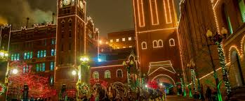 holiday lights st louis busch makes seasons bright with annual st louis brewery holiday