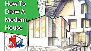 House Architecture Drawing Learn To Draw A Modern House Step By Step Architectural Drawing