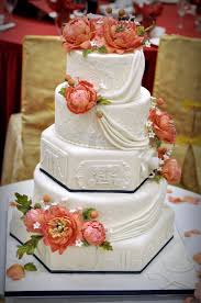 nyc skyline u0026 peonies wedding cake kāke