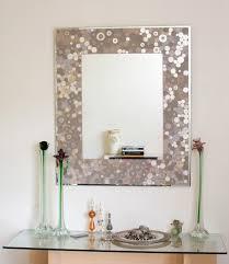 bathroom bathroom mirror frame diy with dot pattern mirror frame