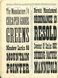 hamilton wood type catalog 14 year 1899 1900 vintage type