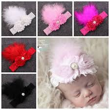 s hair accessories baby shabby fabric flower headbands lace elastic headband for