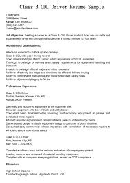 Truck Driver Resume Example by Class B Resume Template Free Resume Examples Cv Templates