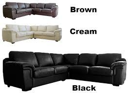 Large Black Leather Corner Sofa Brown Or Cream Large Leather Corner Sofa Sofas Direct
