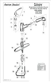 standard kitchen faucet parts diagram standard colony faucet parts colony vi series shower