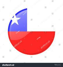 Chile Santiago Flag Button Flag Chile Stock Vector 236065897 Shutterstock