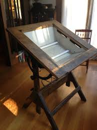 Antique Oak Drafting Table Old Industrial Back Lighted Drafting Table 500 Http Sfbay