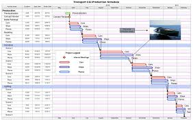 Production Schedule Template Excel Free Free Project Management Templates For Tv Publishing Aec