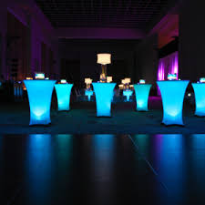 party rental orlando led spandex cocktail tables available for rent at orlando wedding