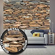 Stone Wall Mural Shale Stonewall Photo Wallpaper Xxl Mural Exclusive Shale