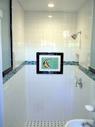 main bathroom pretty simple pretty tile glass stip above shower