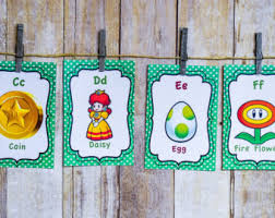 Super Mario Home Decor Super Mario Decor Etsy
