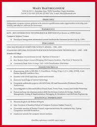 Resume For Computer Science Graduate College Resume Example Example Resume For College Students Sample
