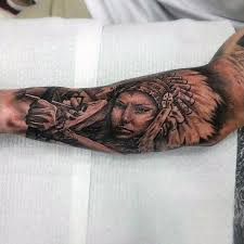 collection of 25 indians on forearms