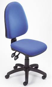 appealing blue seat and back ergonomic staples office