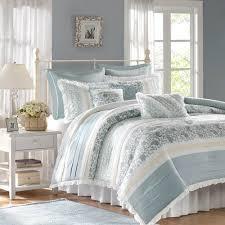 park dawn blue queen 9 piece bed in a bag
