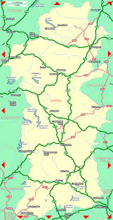 Map Of Wales Of Powys