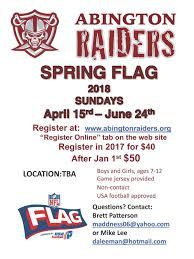 Flag Football Play Designer Abington Raiders