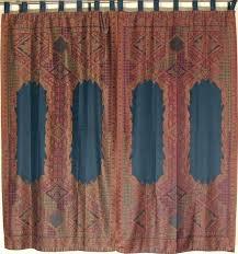 black floral indian window treatments 2 woven jamawar curtain