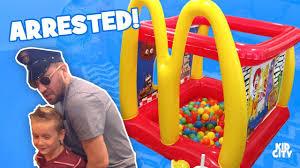 mcdonald u0027s inflatable drive thru funny knock knock jokes bad kid