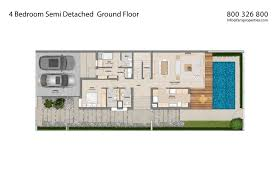 Semi Detached Floor Plans by Floor Plans Mudon Villas Dubailand