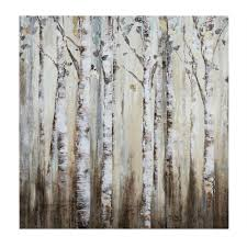 Wall Mural White Birch Trees Landscape Canvas Art Countryside Photography Scenic Wall Art
