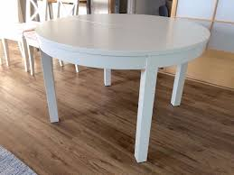 table round white dining extendable 68 trendy interior or