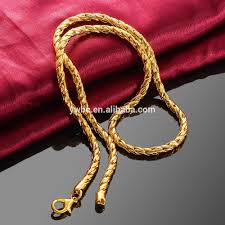 rope necklace designs images Wholesale men women 18k gold plated round twisted singapore rope jpg