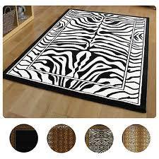 Taupe Zebra Rug Zebra Print Rug Ebay