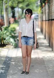 Favorito Look do dia: Camisa branca e short jeans - Just Lia | Por Lia Camargo @SL44