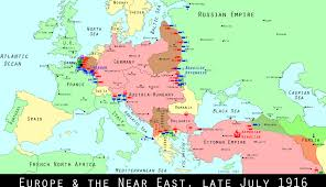 World War I Alliances Map by Wwi Centennial Russians Resume Brusilov Offensive Mental Floss
