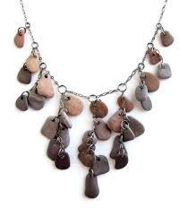 rock necklace jewelry images River rock statement necklace for goddesses ceramic sculpture jpg