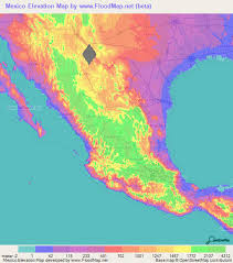 mexico on map mexico elevation and elevation maps of cities topographic map contour