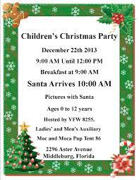 children u0027s christmas party december 22nd vfw post 8255