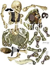 halloween skeleton printable printable halloween paper skeleton with horse printable gothic
