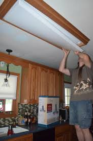 Fluorescent Light Fixtures For Kitchen Home Lighting Replace Fluorescent Light Fixture In Kitchen