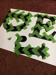 chevron letters u2013 creative blueprint by kendy