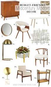 Midcentury Modern Decor - where to buy budget friendly midcentury modern decor the budget