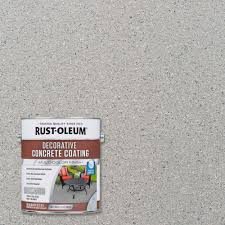 Patio Paint Home Depot by Rust Oleum 1 Gal Slate Decorative Concrete Coating 301304 The