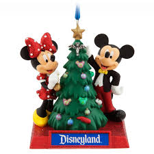 mickey and minnie mouse holiday ornament disneyland shopdisney