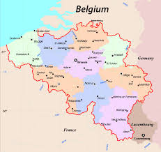 map of begium maps of belgium detailed map in tourist beligum