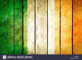 Irrland Flag Ireland Wooden Grunge Flag Ireland Flag Painted On The Old Wooden