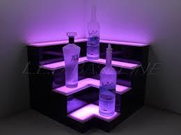 Man Home Decor Corner Lighted Bar Shelf Bar Decor Back Bar Mood Lighting Home
