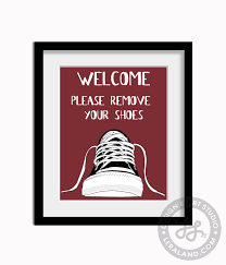 Shoe Home Decor by Welcome Please Remove Your Shoes 11x14 Or 8x10 Converse Shoe