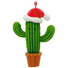 cactus in santa hat hallmark ornament gift ornaments hallmark