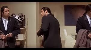 Meme John Travolta - 3 john travolta confusion meme scene pulp fiction vincent vega x 3