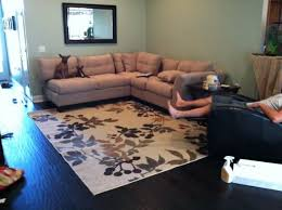 area rug in living room how to put an area rug in a living room thecreativescientist com